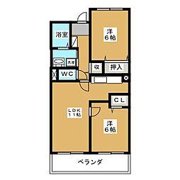ハイダウェイホーム[2階]の間取り
