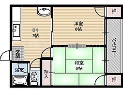マンションひまわり[3階]の間取り