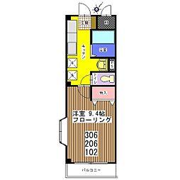 プレーゴ21[1階]の間取り