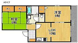 リベックス3号館[1階]の間取り
