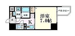 エスリード福島ラグジェ 15階1Kの間取り