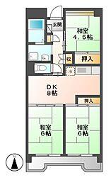 ビレッジハウス笠寺タワー[3階]の間取り