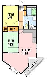 メゾン小島[402号室]の間取り