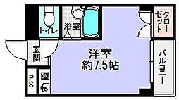 マンション渚[2階]の間取り