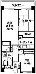 東京都世田谷区駒沢1丁目の賃貸マンションの間取り