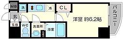 プレサンス北堀江[6階]の間取り