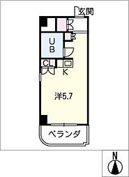 朝日プラザ名古屋ターミナルスクエア[6階]の間取り