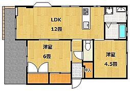 UraraIII(ウララスリー)[1階]の間取り