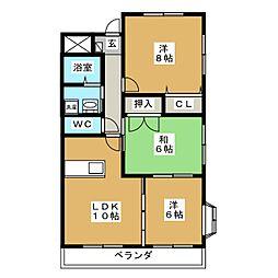 エトワール霞[2階]の間取り