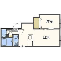 北海道札幌市東区北三十条東2丁目の賃貸アパートの間取り