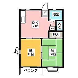 プレミールE[2階]の間取り
