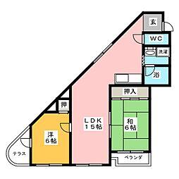 第3カジノハイツ[1階]の間取り