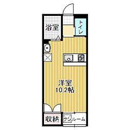 NSコーポ西高岡[108号室]の間取り