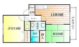 Monte Dio B棟[1階]の間取り