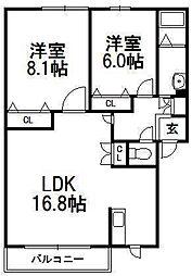フォルトゥナ48[2階]の間取り