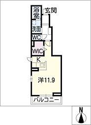 ベルソレイユ[1階]の間取り