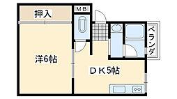 コーポ泉ヶ丘[301号室]の間取り
