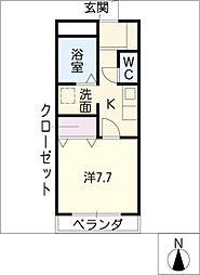 ファロ21[3階]の間取り
