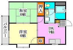 スクエア津田沼II[2階]の間取り