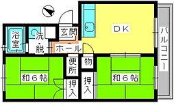レジデンス飯田Ⅰ[1階]の間取り