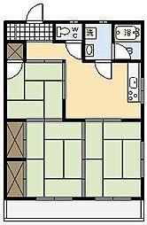 大工マンション[203号室]の間取り