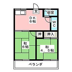 神山ハイツ[1階]の間取り