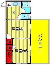 KSビル(松ヶ丘)[205号室]の間取り