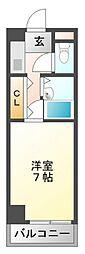 シャトレ豊津[1階]の間取り