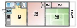 シェモワ2番館[2階]の間取り
