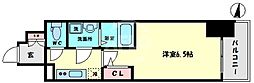 サムティ大正リバーテラス 7階1Kの間取り