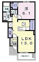 和歌山県和歌山市源蔵馬場2丁目の賃貸アパートの間取り