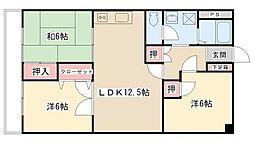 野菊野ローヤルコーポ[101号室]の間取り