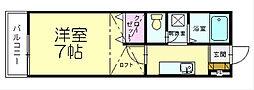 福岡県糟屋郡粕屋町大字内橋の賃貸アパートの間取り