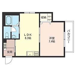 エスクード[2階]の間取り