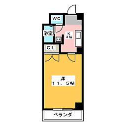 ドミール栄生[4階]の間取り