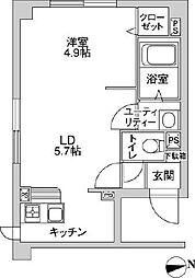フローラ澄川[2階]の間取り
