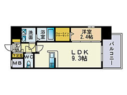 エンクレスト博多レジェンド[6階]の間取り