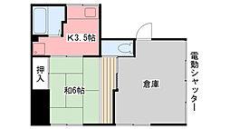 新久寿川荘[1号室]の間取り