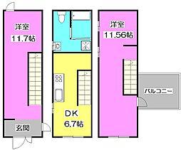 サンドイッチアパートメント[2階]の間取り