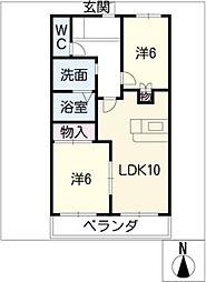 ピアニィ[2階]の間取り