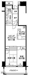 ルリエ横浜長者町[9階]の間取り