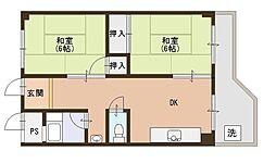 メゾン近江富士[505号室]の間取り