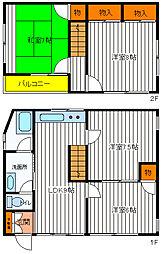 [一戸建] 東京都立川市若葉町1丁目 の賃貸【東京都 / 立川市】の間取り