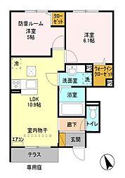 未来樹 弐号棟 〜ゆめのき〜[1階]の間取り