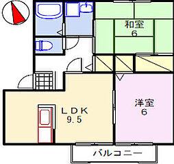 エスペランサ姫路[201号室]の間取り