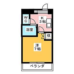 エクセス京命[6階]の間取り