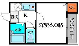 ラフォーレ桜宮I[3階]の間取り