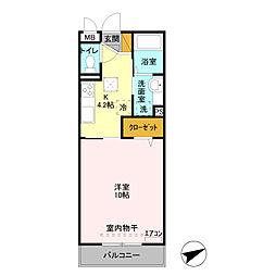 ラフィーネ(北坂戸)[2階]の間取り
