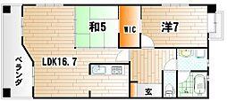 リバティガーデン熊本[5階]の間取り