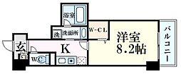JR東海道・山陽本線 甲南山手駅 徒歩4分の賃貸マンション 5階1Kの間取り